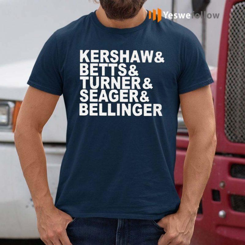 Kershaw---Beetts---Turner---Seager---Bellinger-T-Shirt