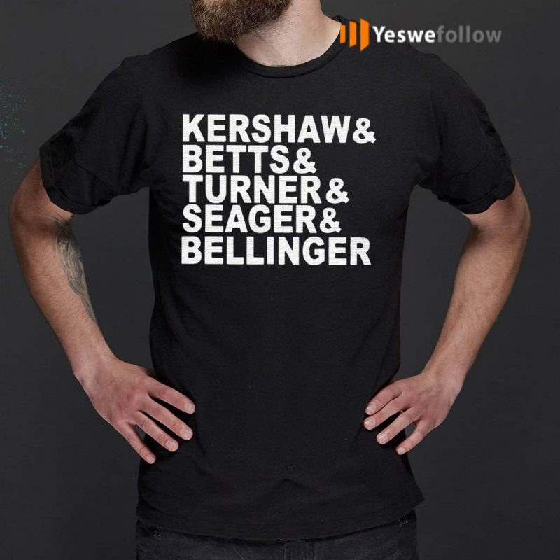 Kershaw---Beetts---Turner---Seager---Bellinger-T-Shirts