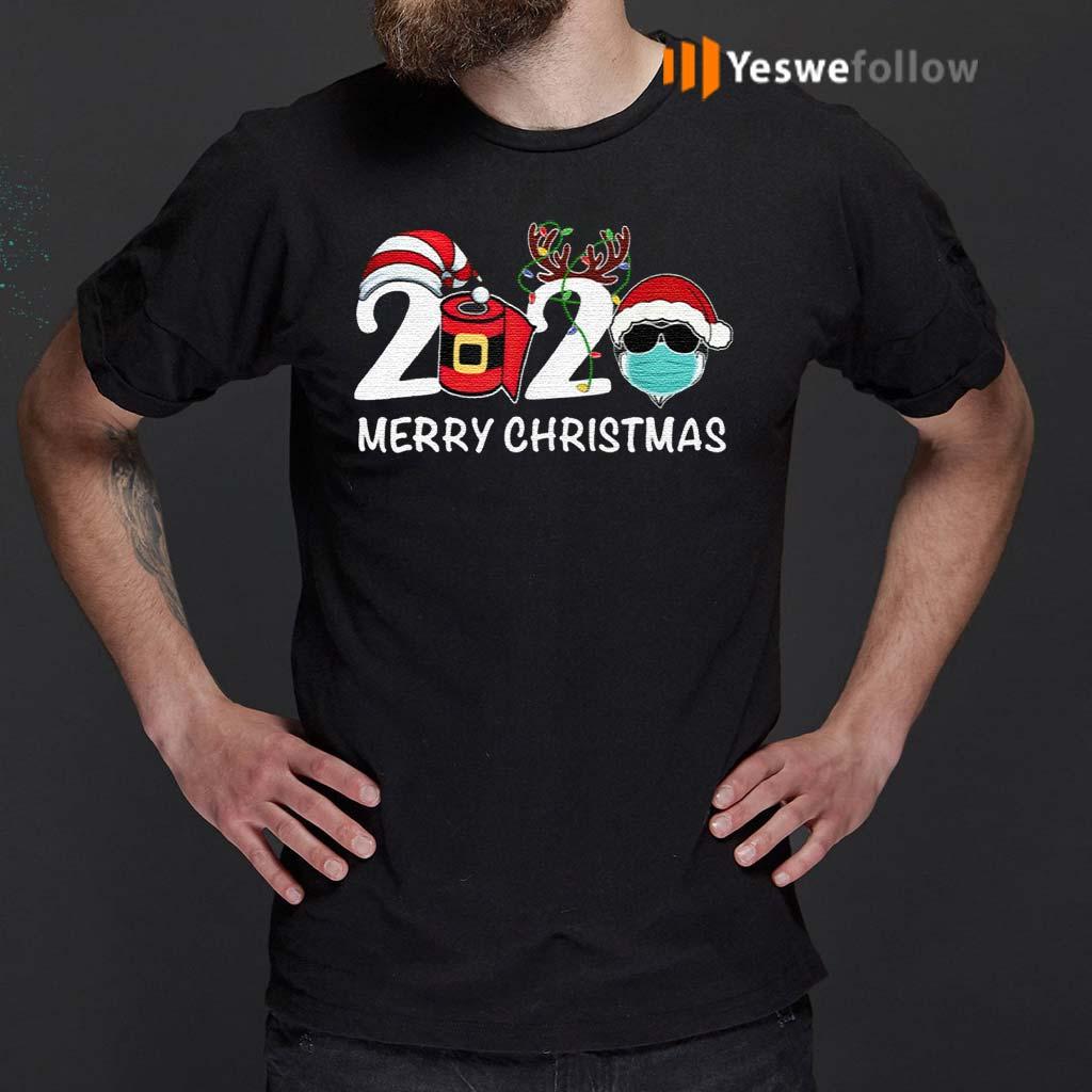 Merry-Christmas-2020-Quarantine-Christmas-Santa-Face-Mask-Shirt