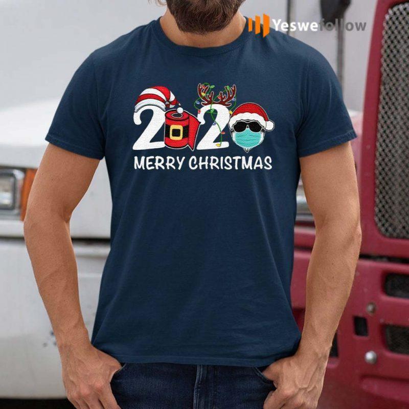 Merry-Christmas-2020-Quarantine-Christmas-Santa-Face-Mask-Shirts
