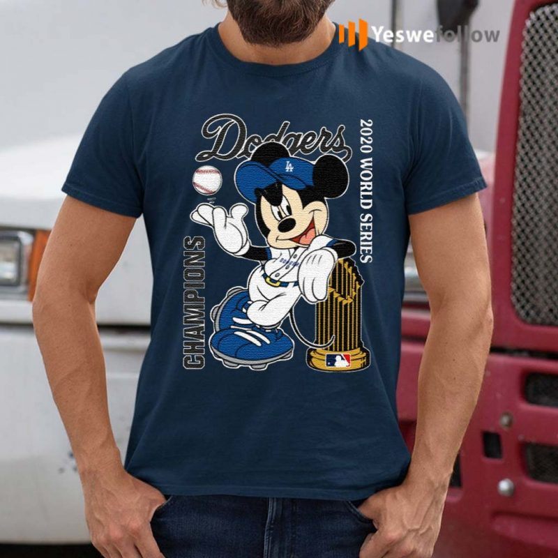 Mickey-Mouse-Dodgers-Championship-2020-Shirts