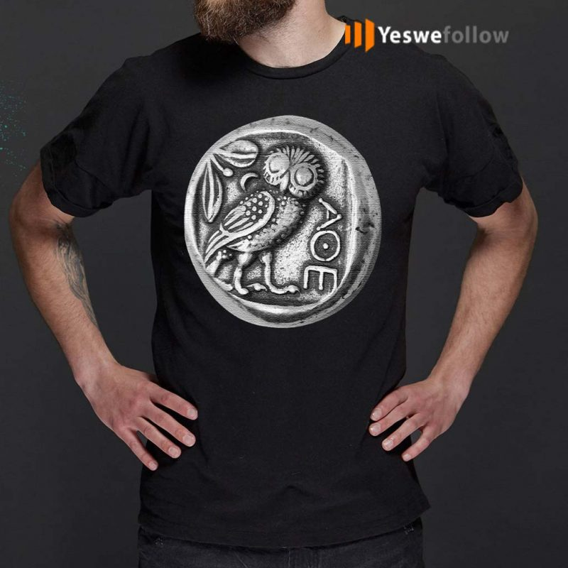 Owl-of-Athena-Coin-Minerval-AOE-T-Shirt