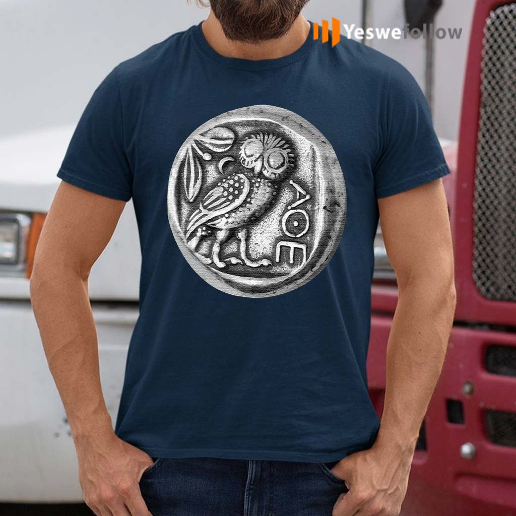 Owl-of-Athena-Coin-Minerval-AOE-T-Shirts