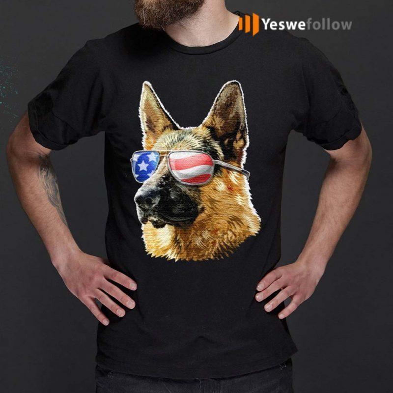 Patriotic-German-Shepherd-American-Flag-German-Shepherd-Gift-TShirt