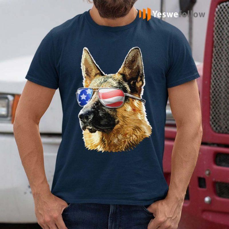 Patriotic-German-Shepherd-American-Flag-German-Shepherd-Gift-TShirts