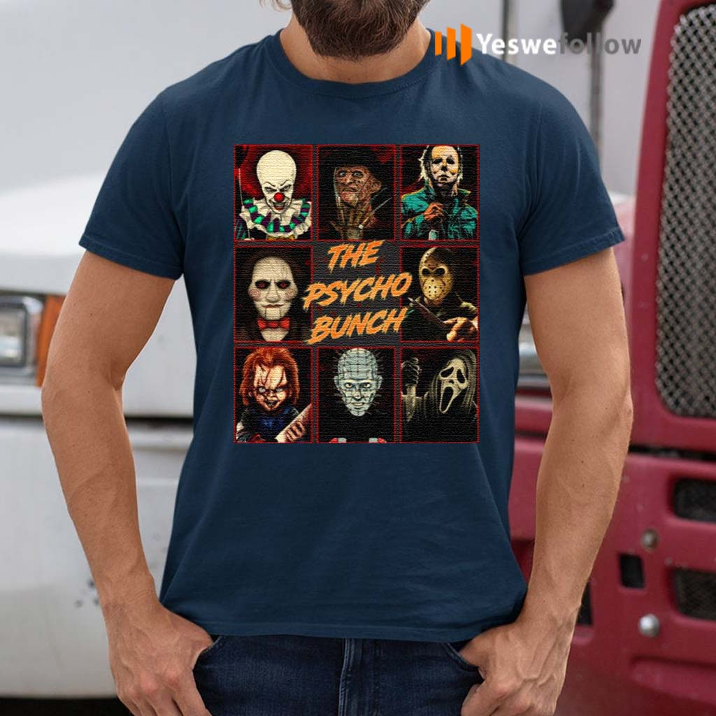 Psycho-Bunch-Horror-Movie-Characters-T-Shirts
