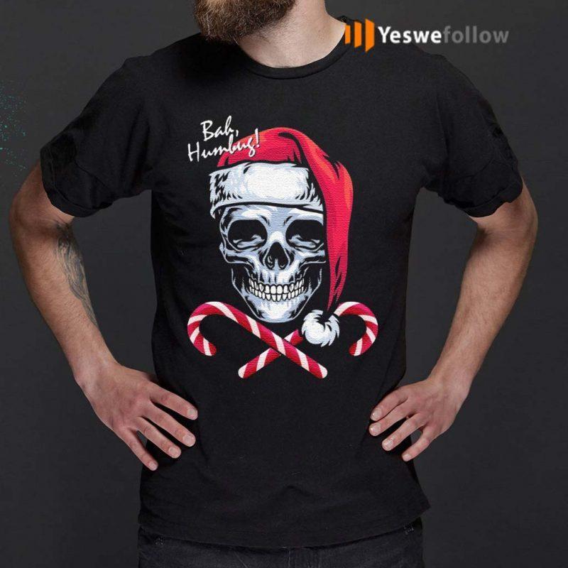 Skull-Bah-Humbug-Funny-Santa-Christmas-T-Shirt