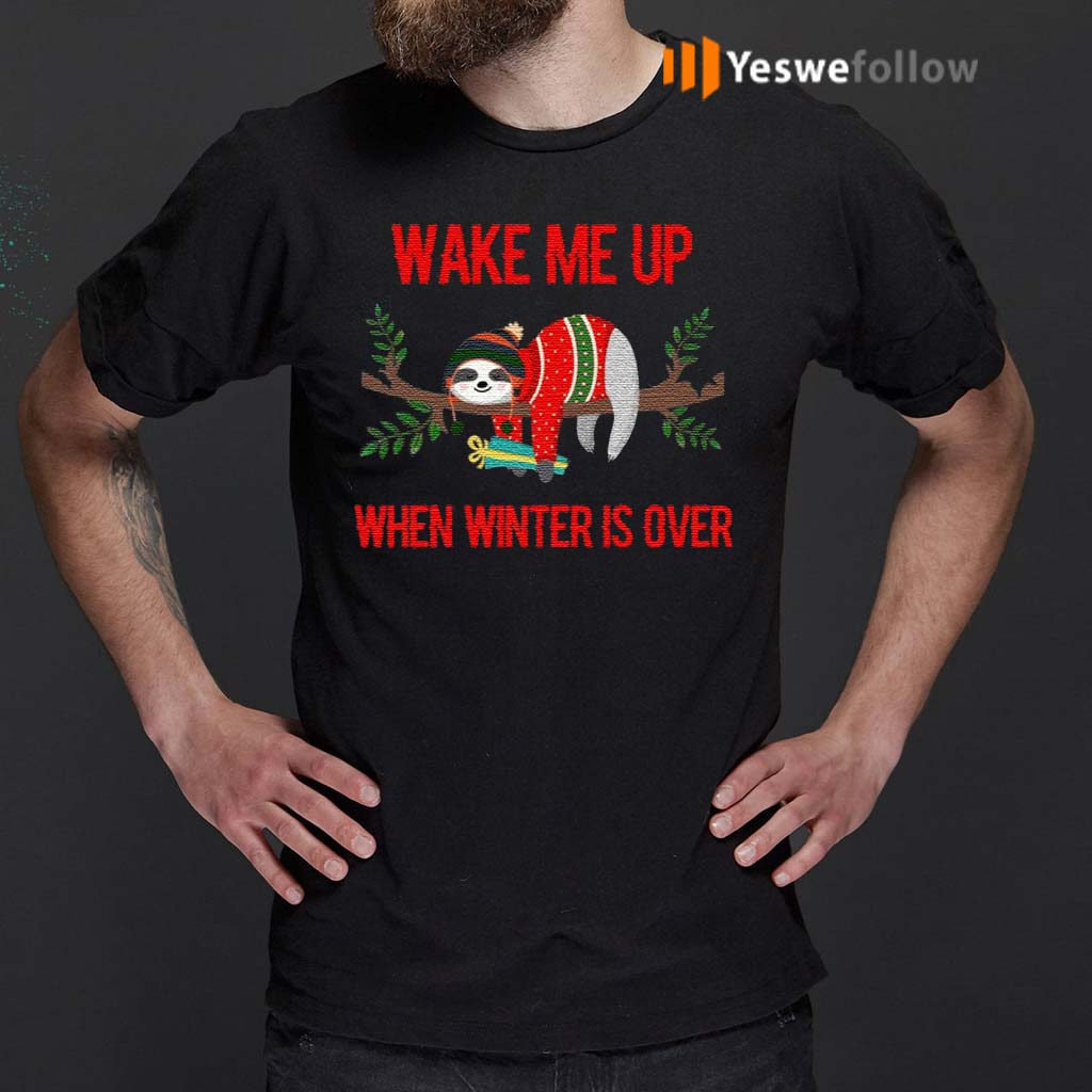 Sloth-Wake-Me-Up-When-Winter-Is-Over-T-Shirt