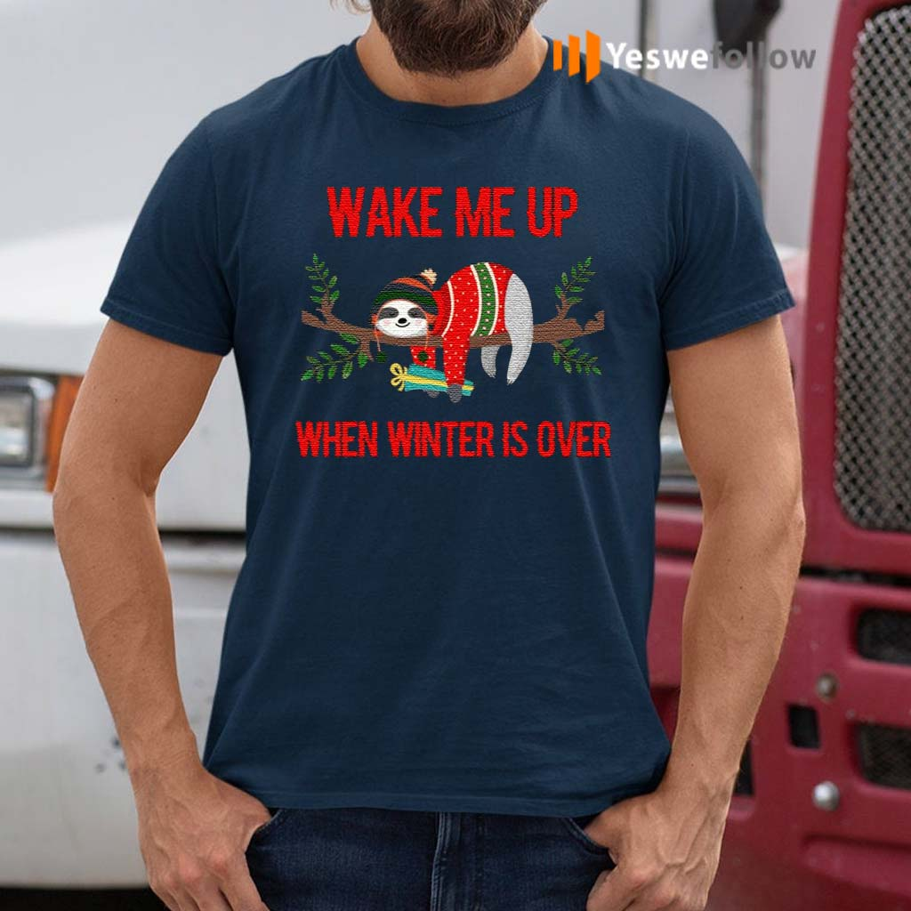 Sloth-Wake-Me-Up-When-Winter-Is-Over-T-Shirts
