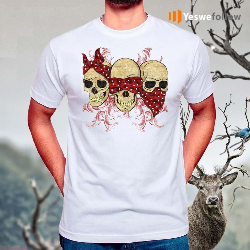 Three-Skulls-With-Red-Bandanas-TShirt
