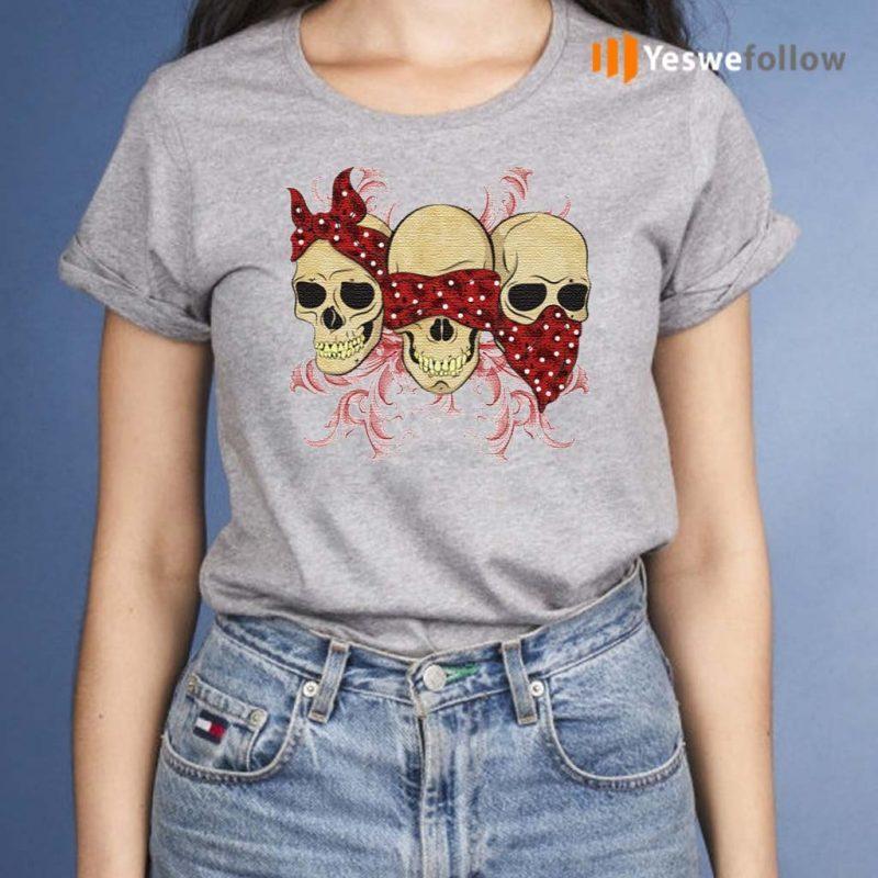 Three-Skulls-With-Red-Bandanas-TShirts
