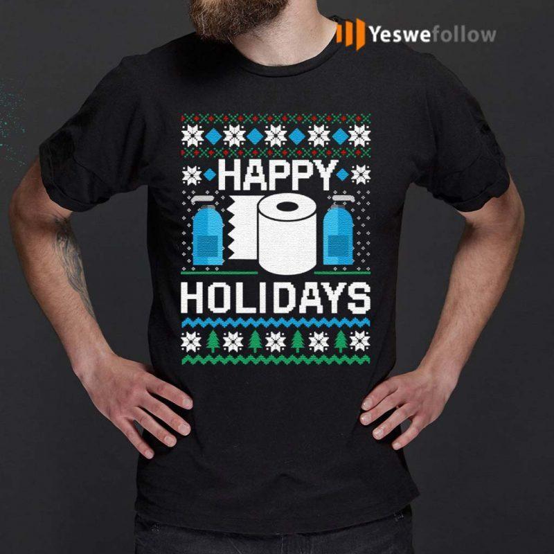 Toilet-Paper-Hand-Sanitizer-Happy-Holidays-Christmas-Shirt