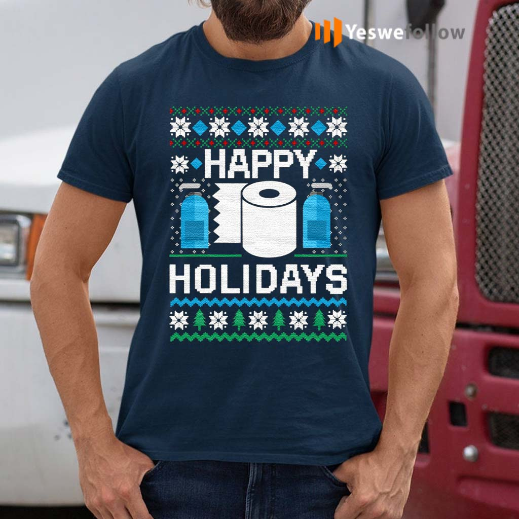 Toilet-Paper-Hand-Sanitizer-Happy-Holidays-Christmas-Shirts