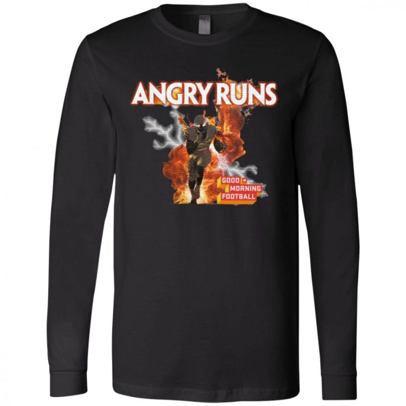Angry Runs Good Morning Football T Shirt