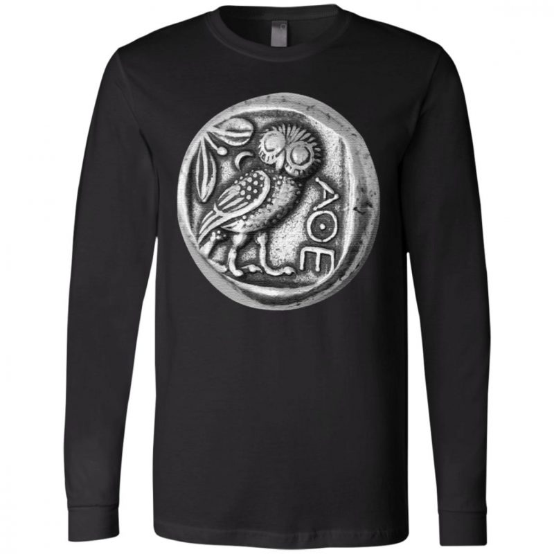 Owl of Athena Coin Minerval AOE T-Shirt