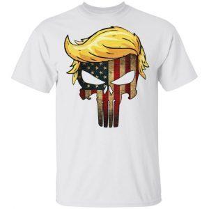 Trump Hair Skull T Shirt