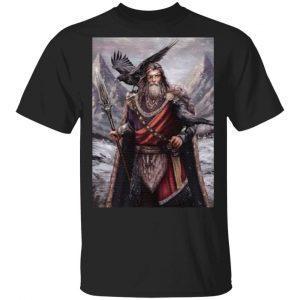 Viking odin ravens t shirt