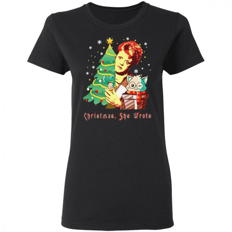 Angela Lansbury Christmas She Wrote T Shirt