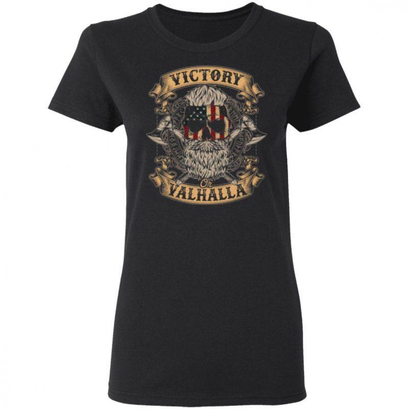 Victory Or Valhalla Shirt – Skull American Flag TShirt