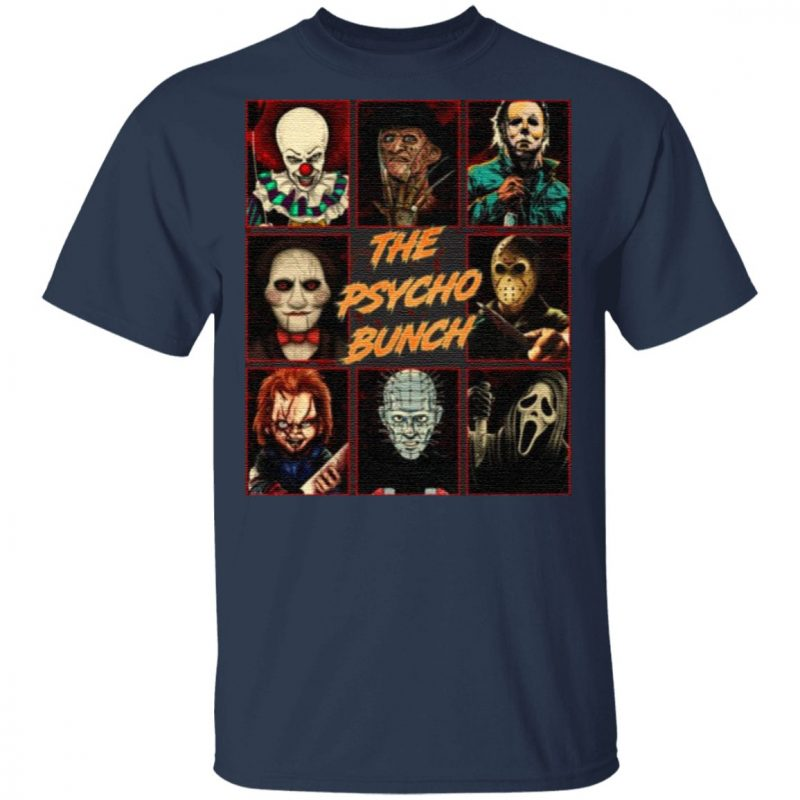 Psycho Bunch Horror Movie Characters T-Shirt