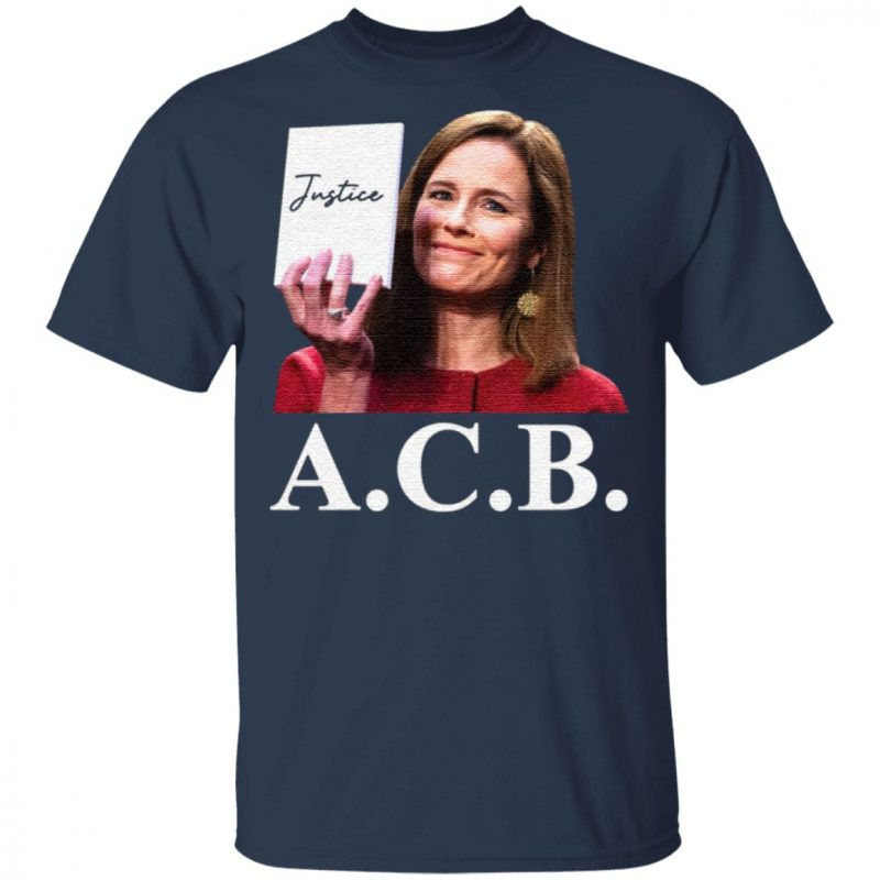 Judge Notorious ACB Amy Coney Barrett Empty Note Pad No Notes Justice T-Shirt