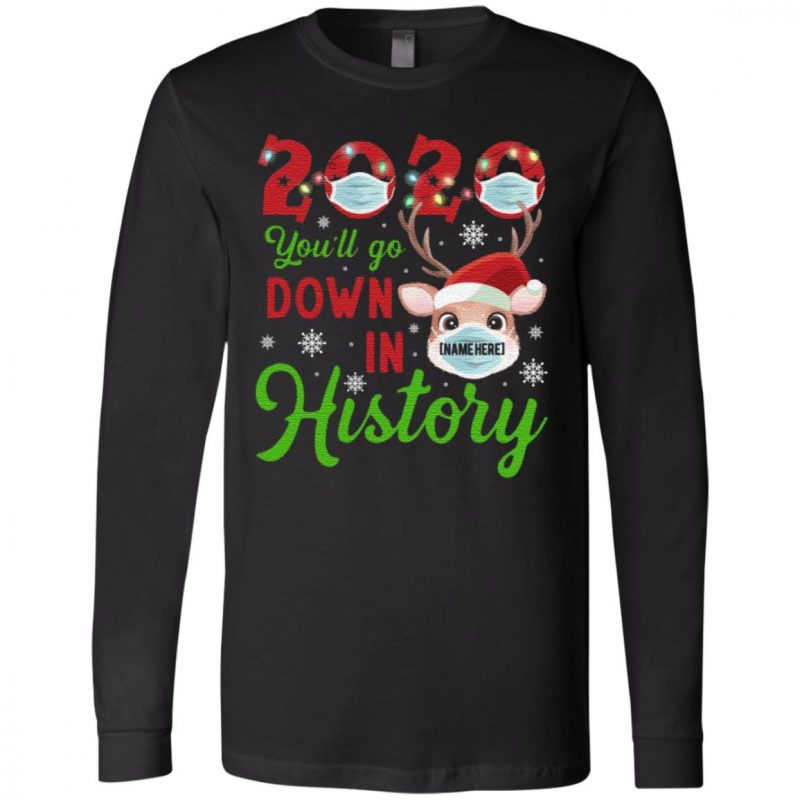 Personalized 2020 You'll Go Down in History T Shirt