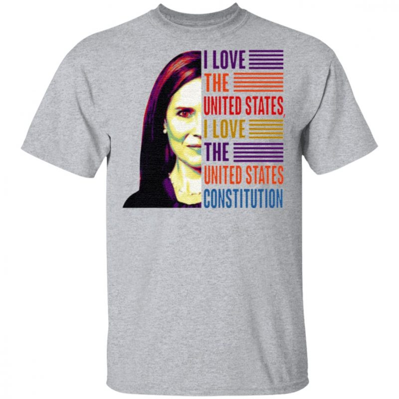 Amy Coney Barrett I Love the United States I Love the U.S Constitution T Shirt