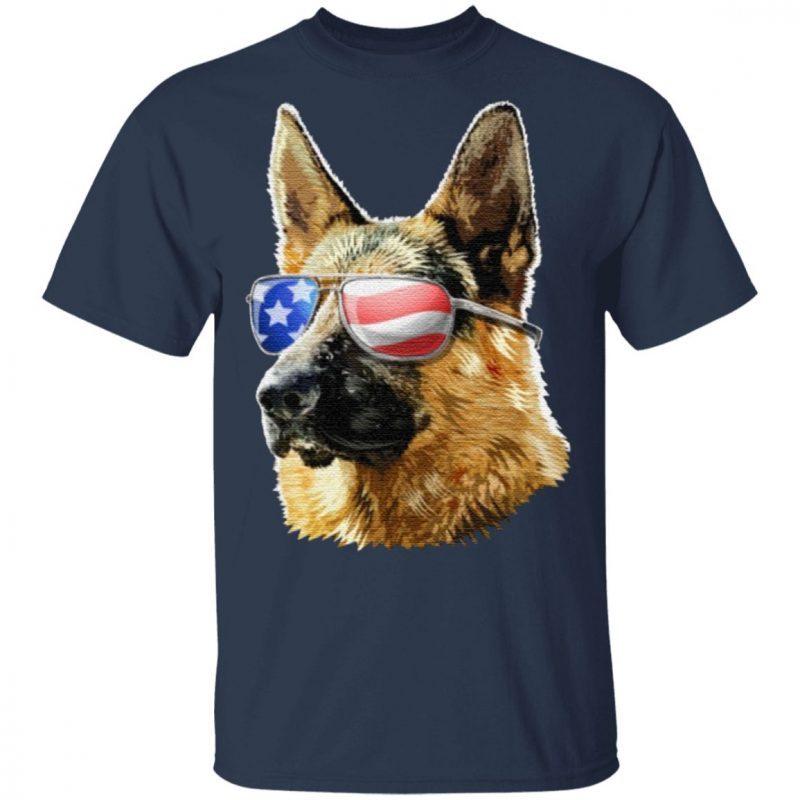 Patriotic German Shepherd American Flag German Shepherd Gift TShirt