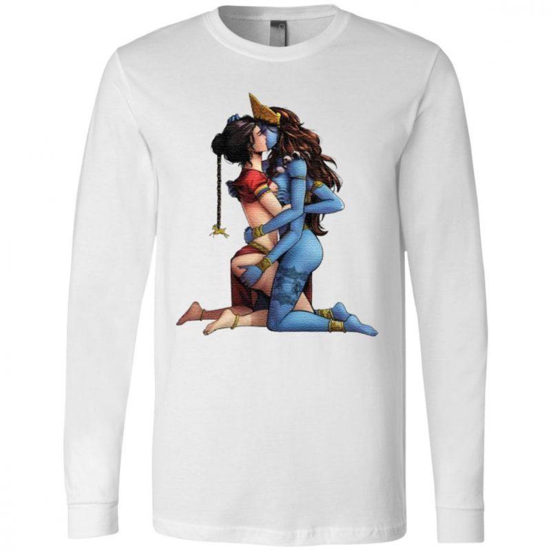 Sexy Hindu Goddess Kali and Sita Hinduism LGBT shirt