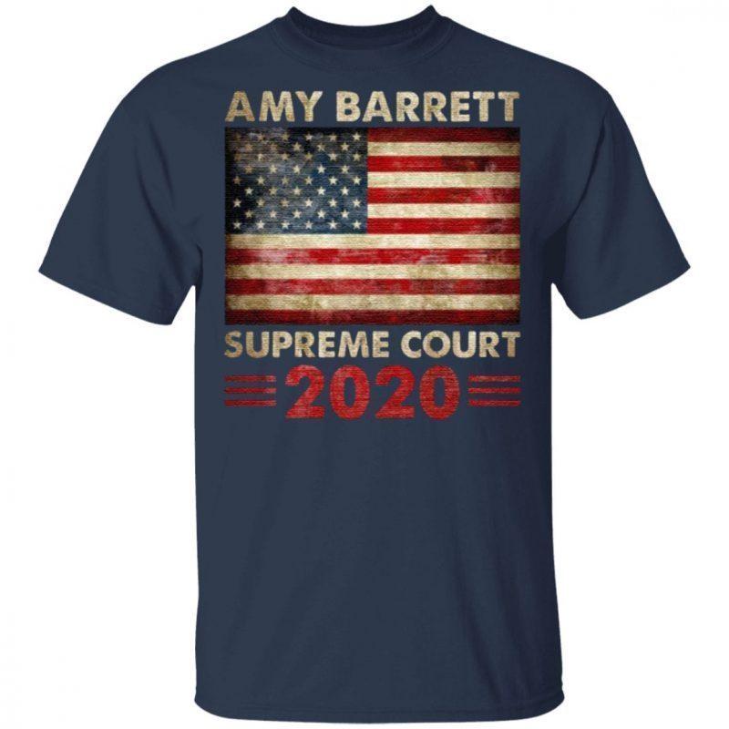 Amy Barrett Supreme Court 2020 American Flag T-shirt
