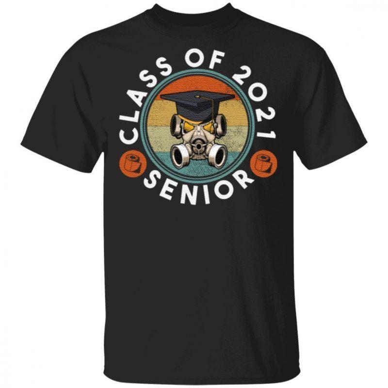 Class Of 2021 Vintage Mask Quarantined Toilet Paper Senior T Shirt