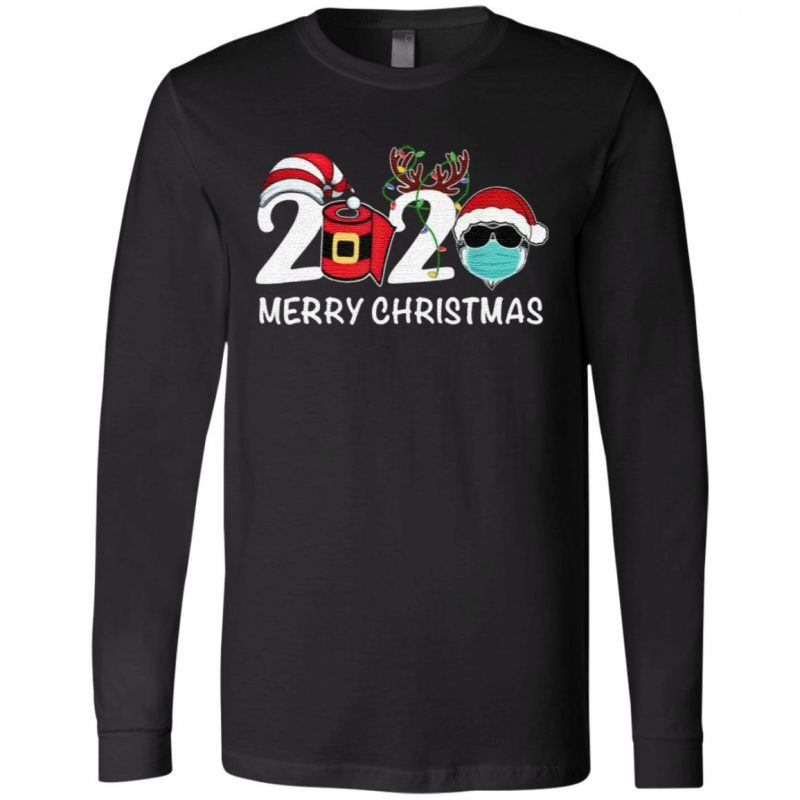 Merry Christmas 2020 Quarantine Christmas Santa Face Mask T Shirt