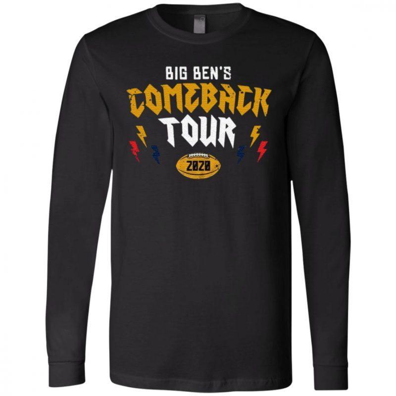 Pittsburgh Steelers Big Ben's Comeback Tour 2020 T Shirt
