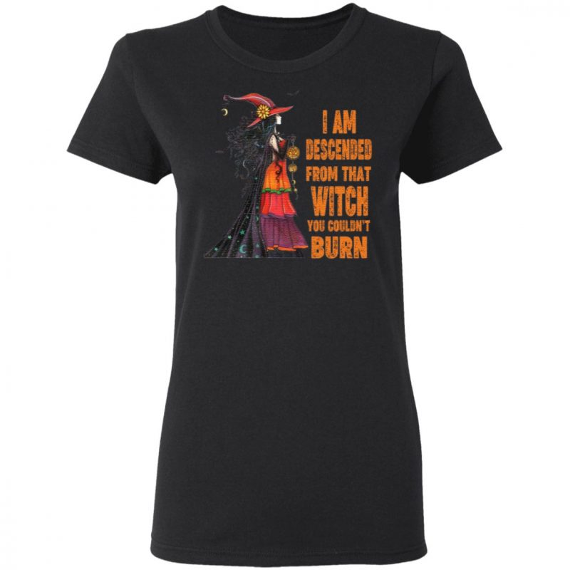 I Am Descended From That Witch You Couldn't Burn T Shirt