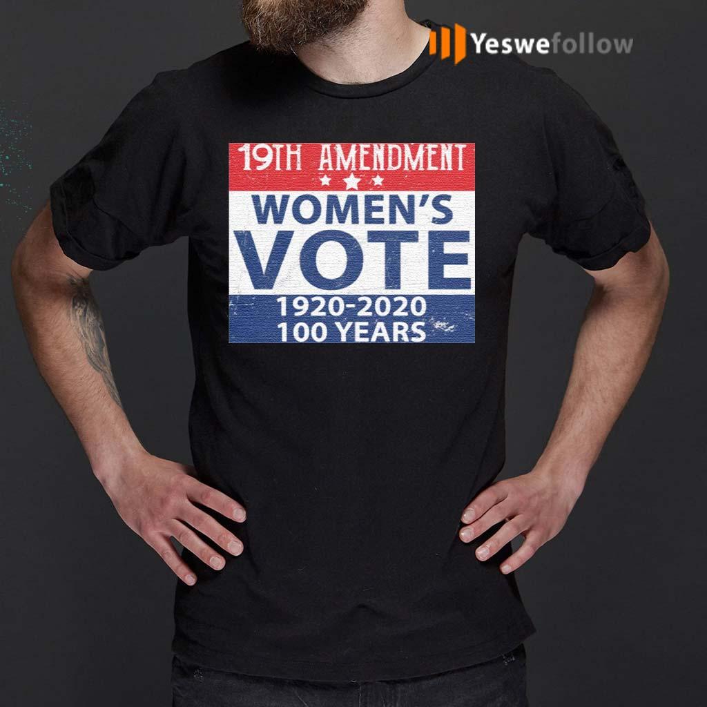 19th-Amendment-Women's-Vote-1920-2020-100-Years-TShirts