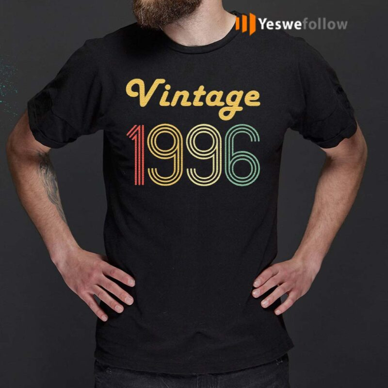 24Th-Birthday-Gifts-For-Men-Age-24-Years-Old-Vintage-1996-T-Shirt