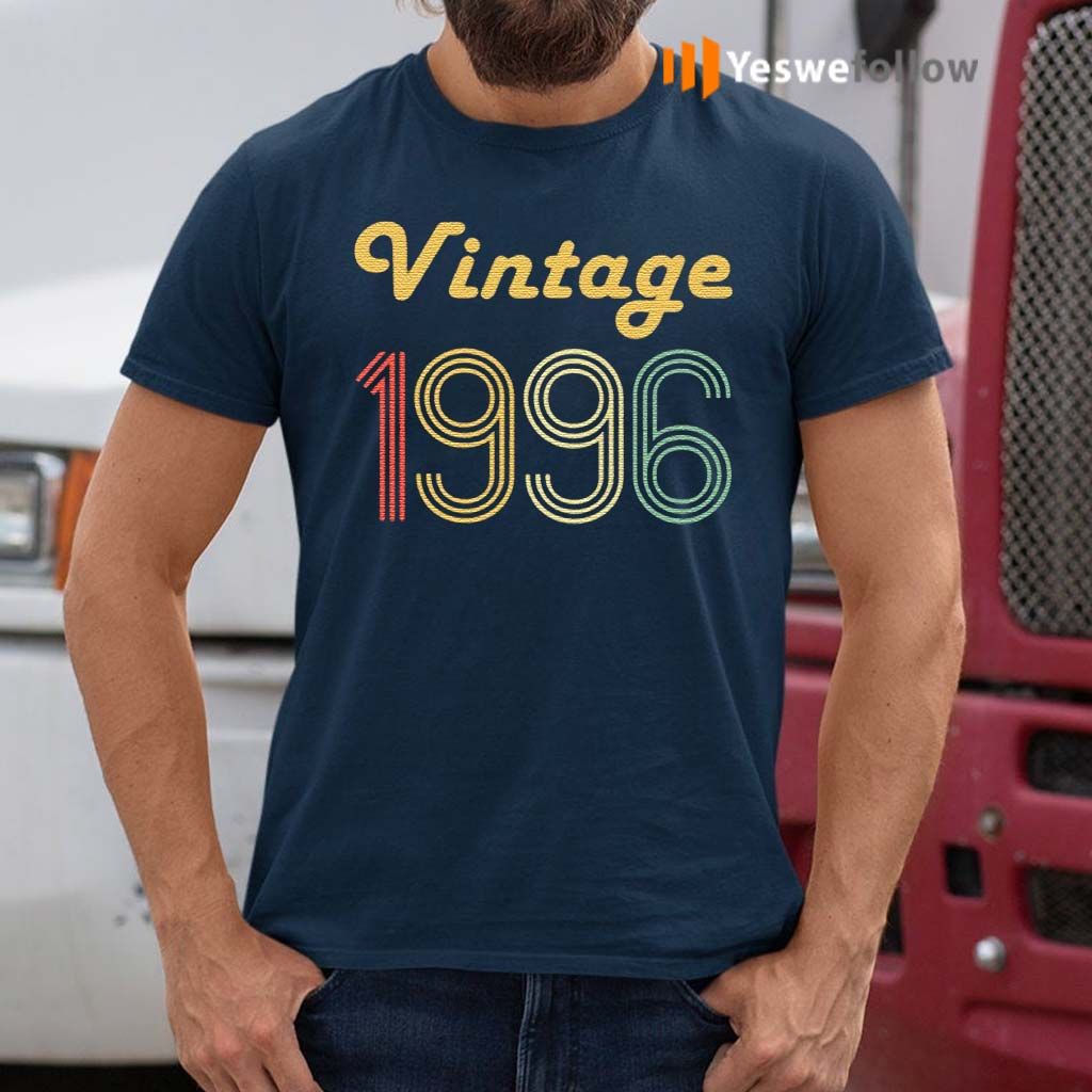 24Th-Birthday-Gifts-For-Men-Age-24-Years-Old-Vintage-1996-T-Shirts