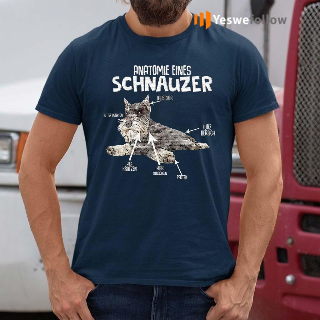 Anatomie-Eines-Schnauzer-Dog-T-Shirt