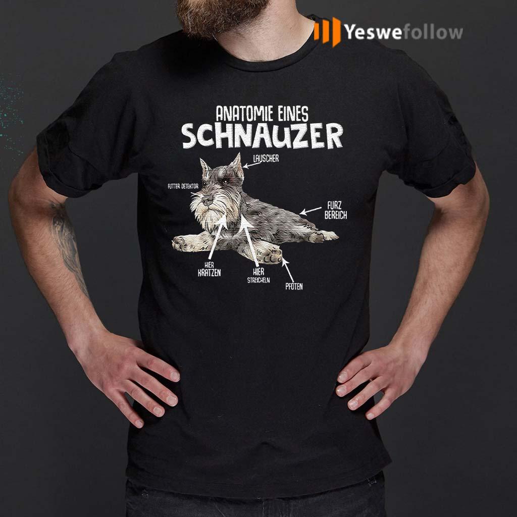 Anatomie-Eines-Schnauzer-Dog-T-Shirts