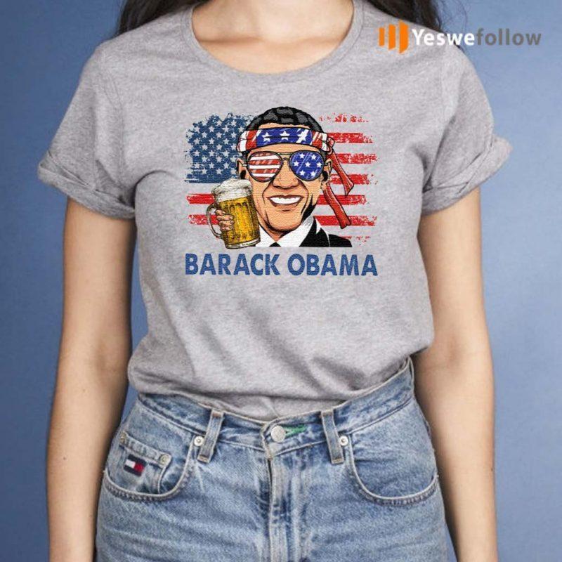 Barack-Obama-Hold-Beer-American-Flag-Shirt