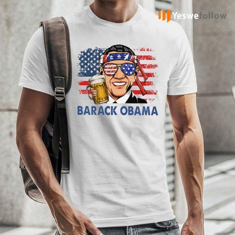 Barack-Obama-Hold-Beer-American-Flag-Shirts
