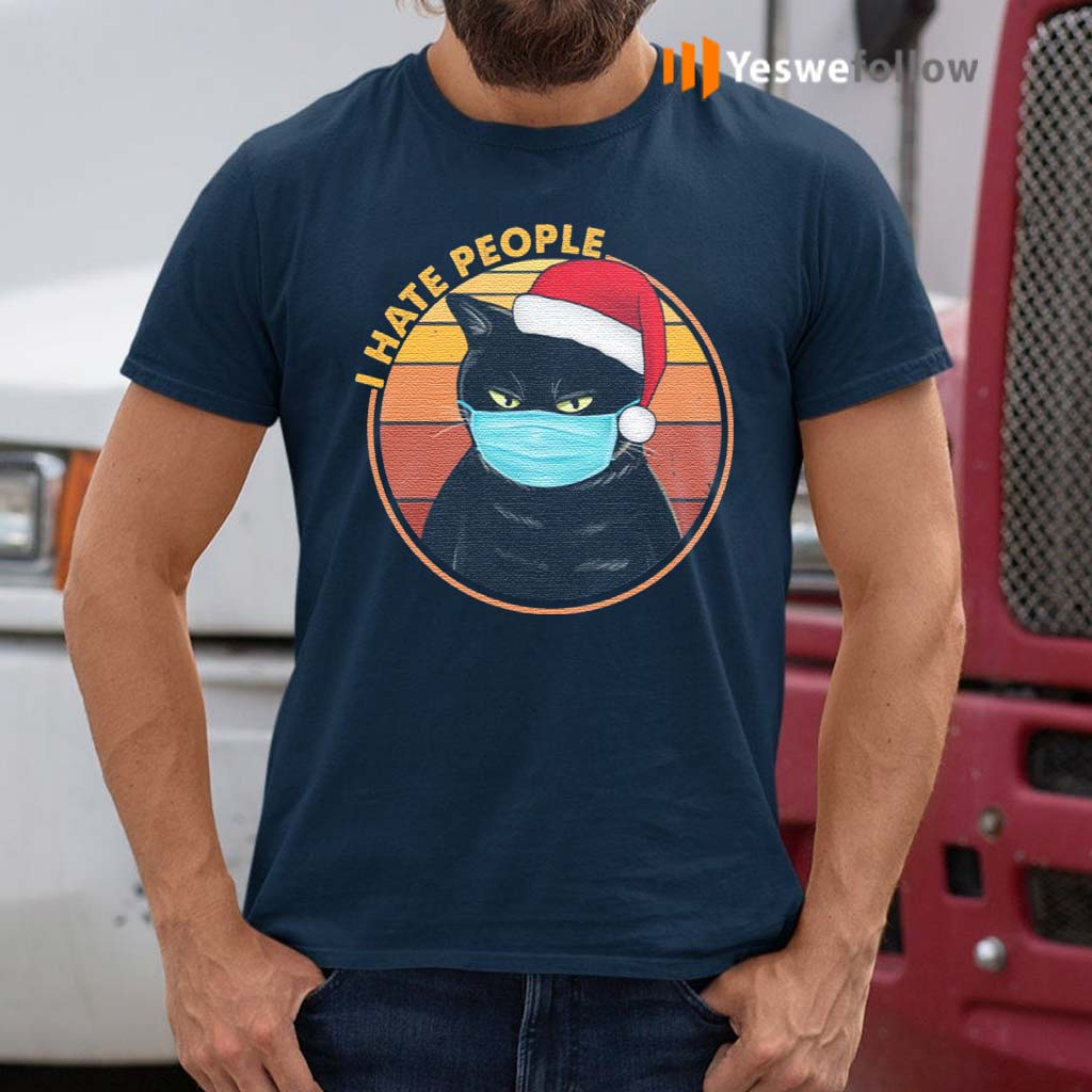 Black-Cat-Wearing-Mask-I-Hate-People-Funny-T-Shirt
