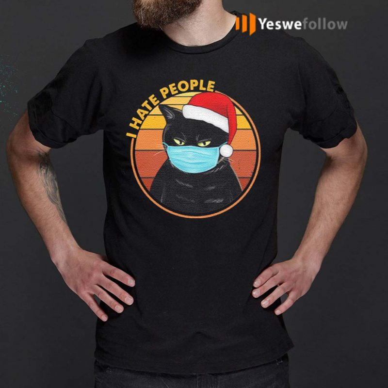 Black-Cat-Wearing-Mask-I-Hate-People-Funny-T-Shirts