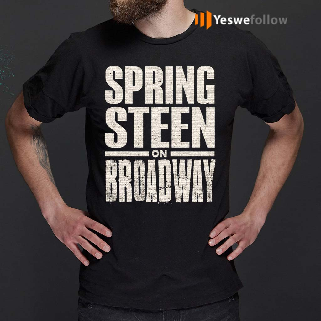 Bruce-Springsteen-Men's-Bruce-On-Broadway-T-shirt