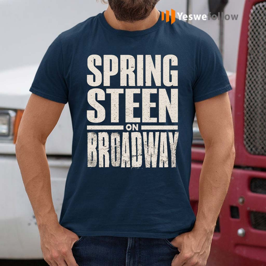 Bruce-Springsteen-Men's-Bruce-On-Broadway-T-shirts