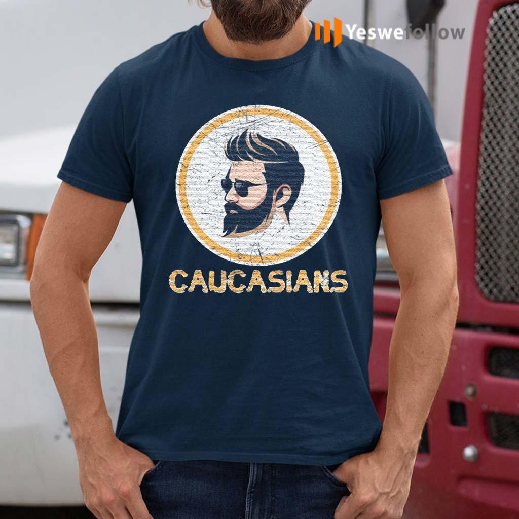 Caucasian-Pride-Dark-Hair-T-Shirts