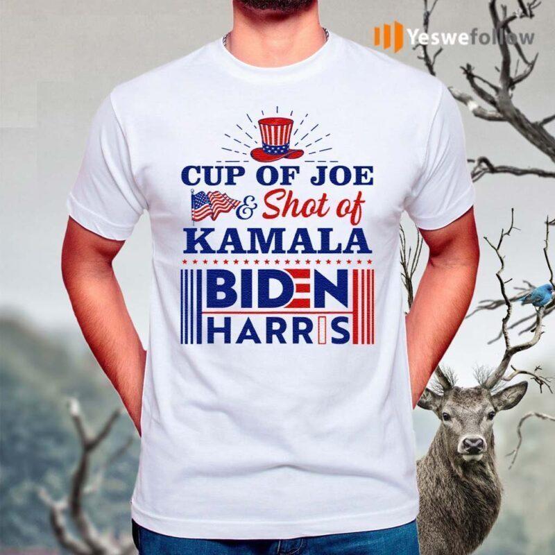 Cup-Of-Joe-And-Shot-Of-Kamala-Biden-Harris-TShirt