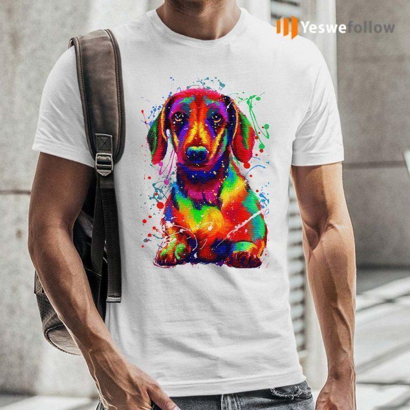 Dachshund-Water-Color-TShirt
