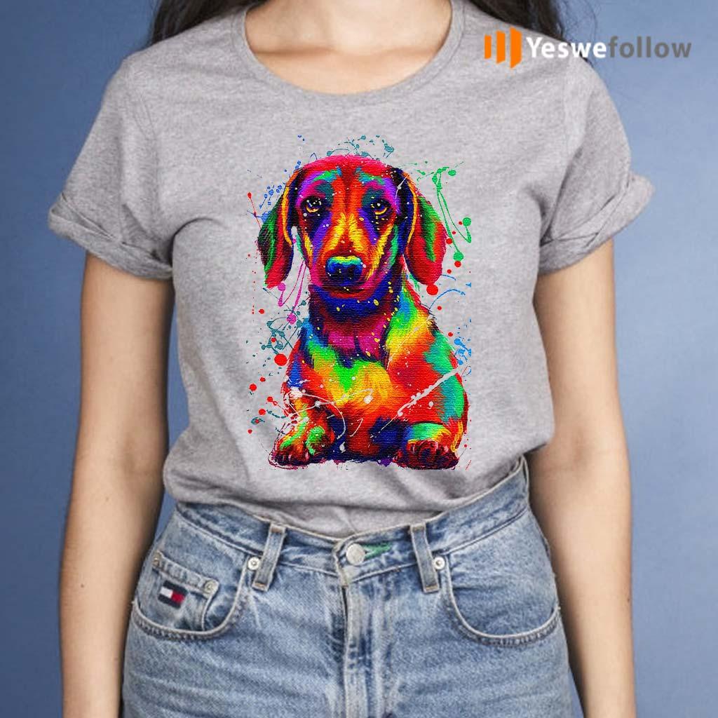 Dachshund-Water-Color-TShirts