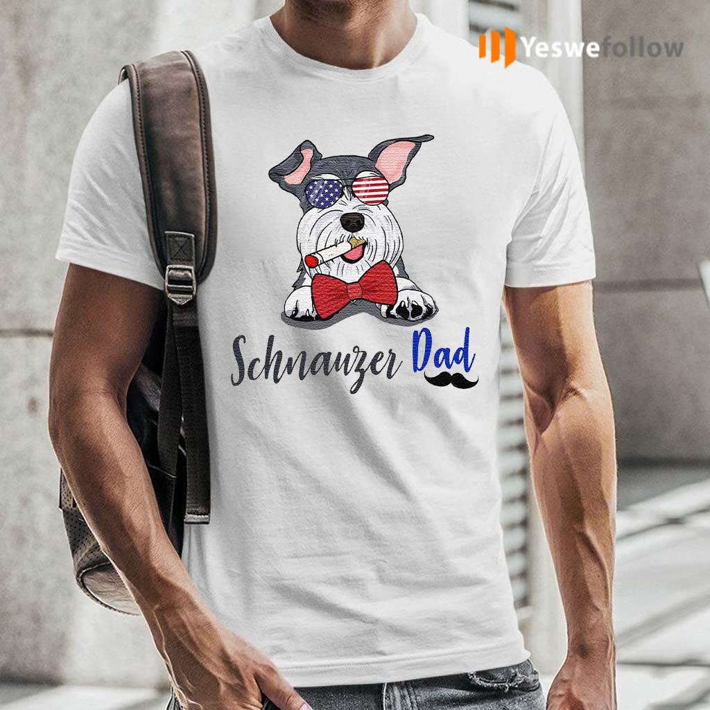 Dog-schnauzer-dad-shirts